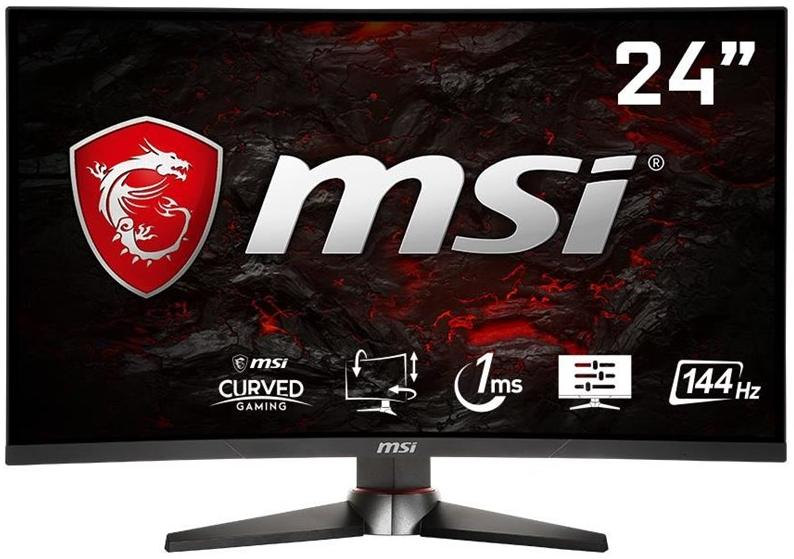 MSI Optix MAG24C-307V Curved Gaming LED Monitor, 60,0 cm (23,6 Zoll) 144Hz, 1ms, FHD (1920x1080), schwarz MAG24C (Frameless Design, OSD App, FreeSync)