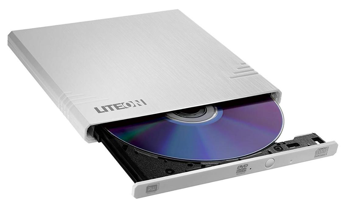 LiteOn eBAU108-21 ext Super-Slim DVD+R/-R USB, 8x, WHITE