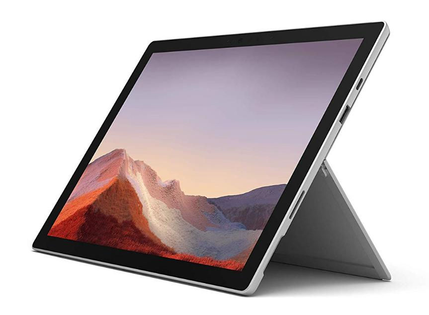 Microsoft Surface Pro 7, 12,3 Zoll 2-in-1 Tablet (Intel Core i3, 4GB RAM, 128GB SSD, Win 10 Home) Platin Grau