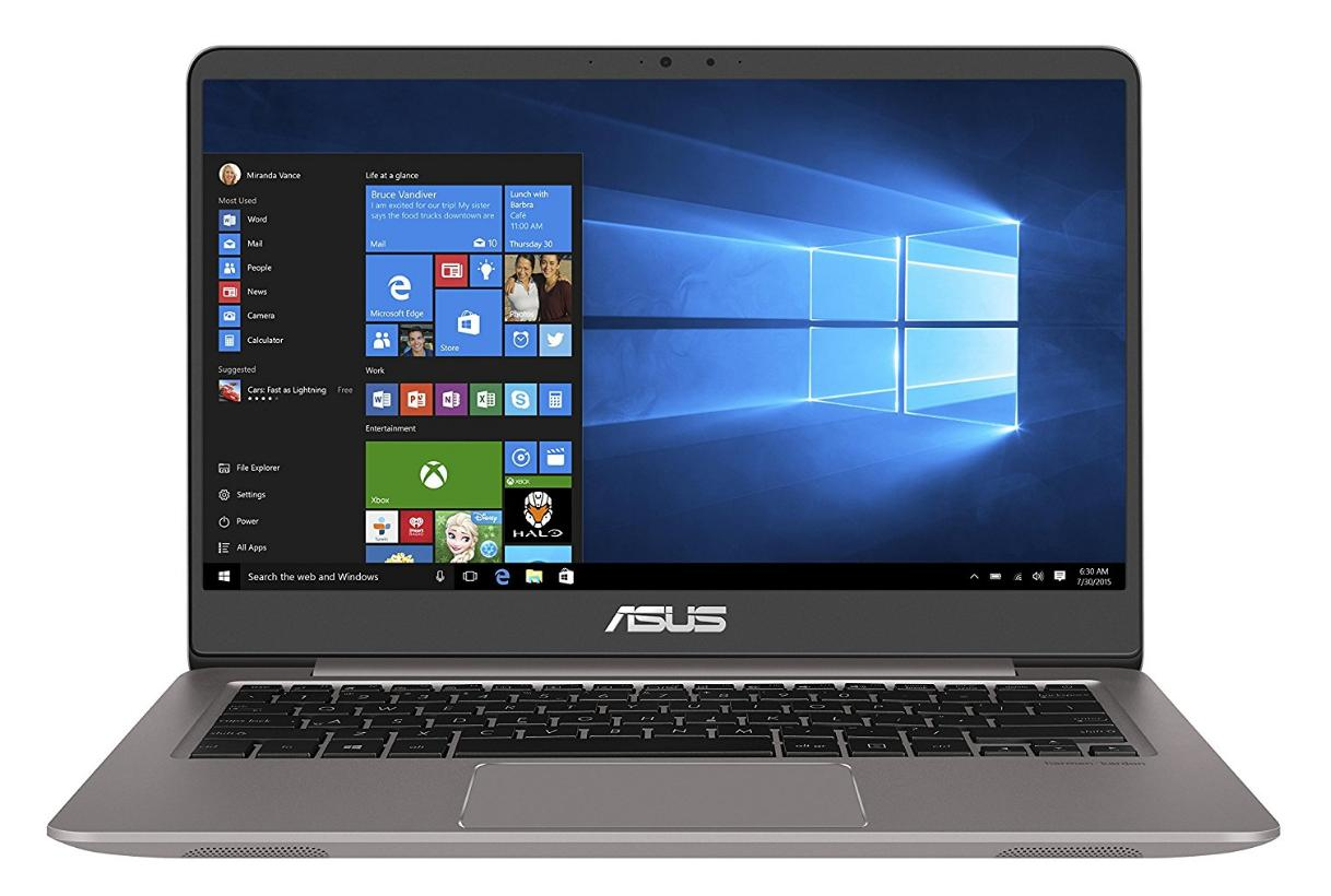 Asus Zenbook UX3410UA-GV628T Notebook, 14 Zoll Full-HD, Intel Core i5-7200U, 8GB RAM, 256GB SSD, 1TB HDD, Intel HD Grafik, Windows 10, grau