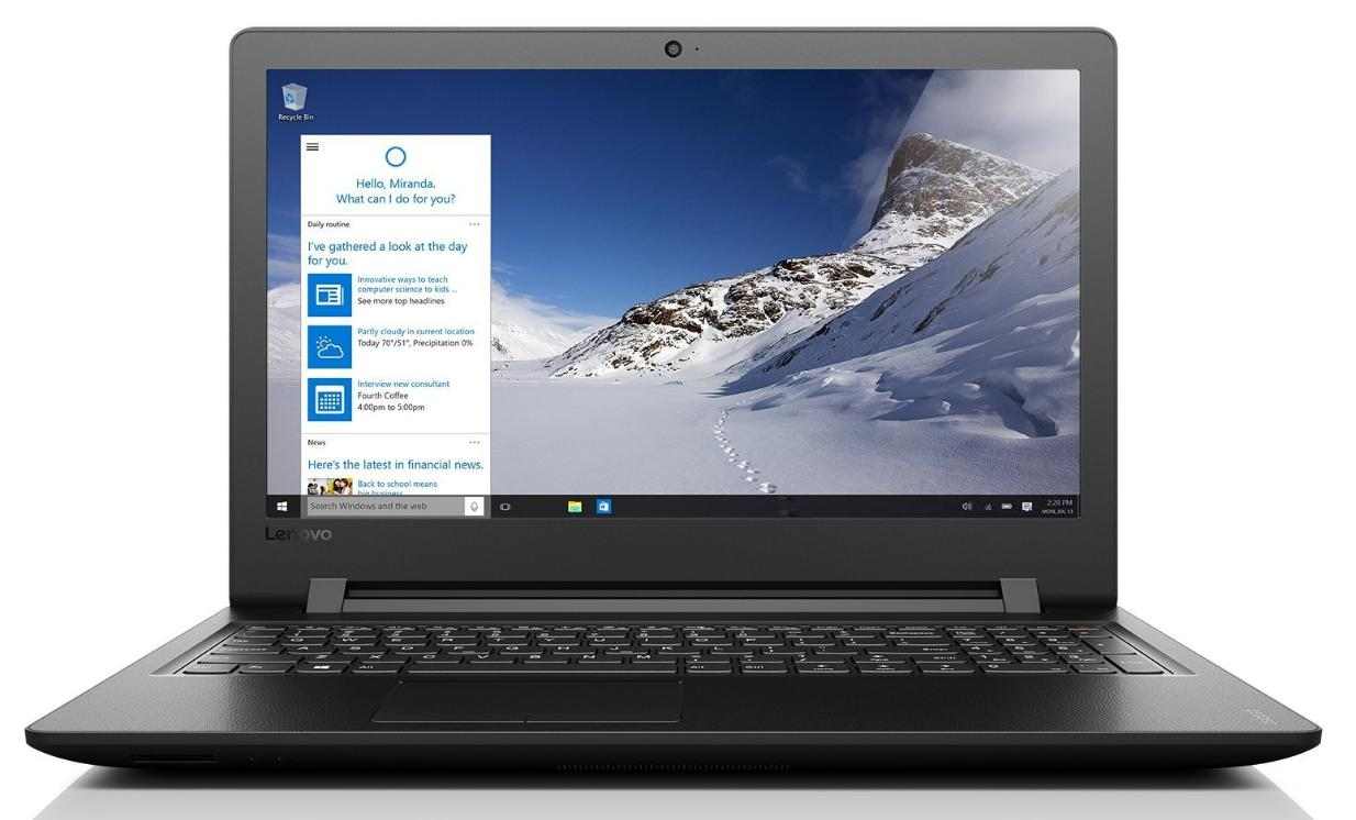Lenovo ideapad 110 39,62cm (15,6 Zoll HD Glare) Notebook (Intel Pentium 4405U, 8GB RAM, 256GB SSD, Intel HD Grafik 510, DVD-Brenner, Windows 10 Home) schwarz