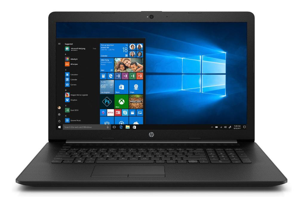 Hewlett Packard (HP) 17-by0101ng Notebook, 17.3 Zoll HD+, Intel Core i3-7020U, 8GB RAM, 256GB SSD, DVD-Brenner, Win10