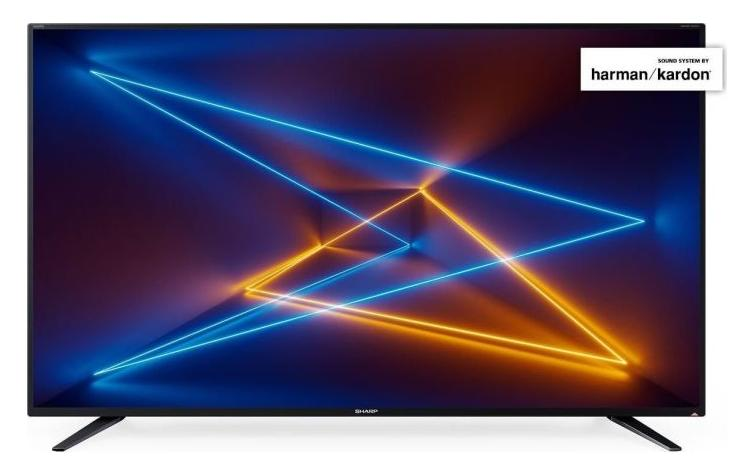 Sharp LC 55 UI7252 E - 139 cm (55 Zoll) Fernseher (4K Ultra HD, HDR, Smart TV, WLAN, Triple Tuner (DVB T2), harman/kardon Sound)