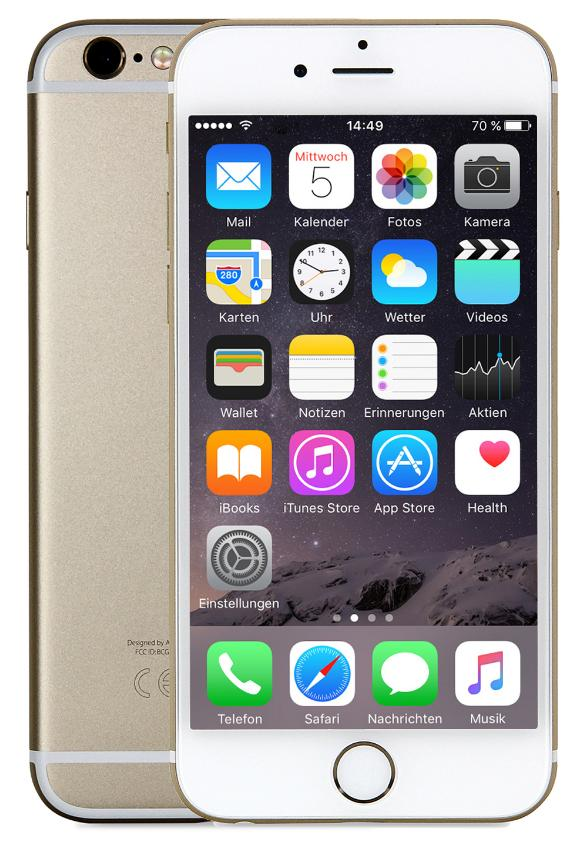 Apple iPhone 6 Plus 16GB Gold CPO EU [13,97cm (5,5 Zoll) Retina HD Display, iOS 8, A8, 8MP, Touch ID]