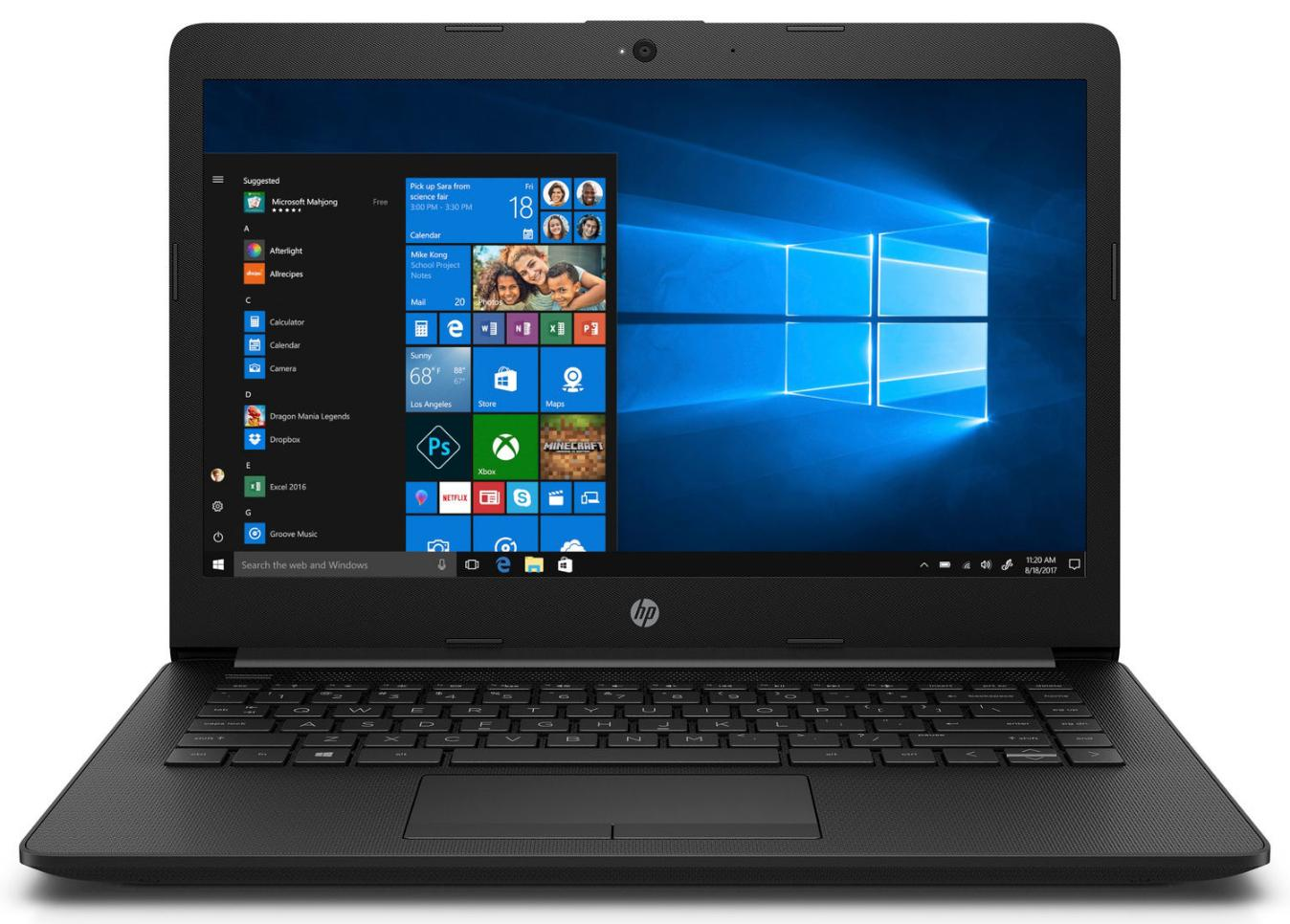 Hewlett Packard (HP) 14-ck0102ng 14 FHD IPS, Intel Core i3 7020U, 8GB DDR4, 256 GB M.2 SSD, Win10