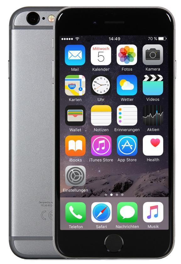 Apple iPhone 6s Plus 16GB Space Grau EU CPO [13,94cm (5,5 Zoll) Retina HD Display, iOS 10, A9, 12MP, 3D-Touch]