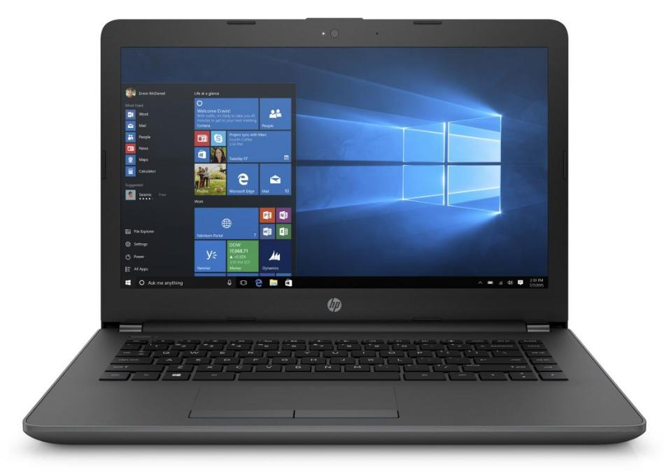 Hewlett Packard (HP) 240 G6 Notebook, 14 Zoll HD Display, Intel Core i5-7200U, 8GB RAM, 256GB SSD, DVD-Brenner, Windows 10