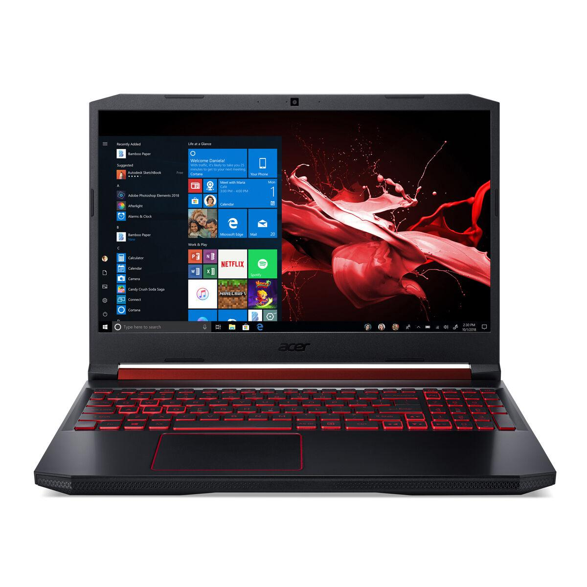 Acer Nitro 5 (AN515-54-50B2) Gaming Notebook, 15.6 Zoll Full-HD IPS 120Hz, Core i5-9300H, 8GB RAM, 1TB SSD, GeForce GTX 1650, Win10