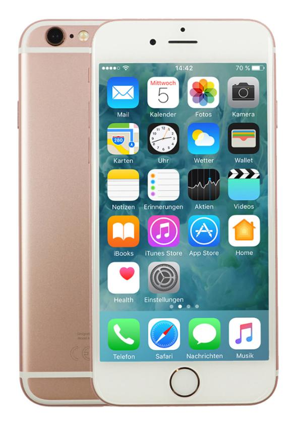 Apple iPhone 6s 16GB Roségold CPO EU [11,94cm (4,7 Zoll) Retina HD Display, iOS 10, A9, 12MP]