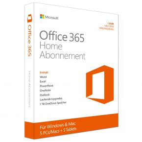 Microsoft Office 365 Home [5PC und/oder Mac /, 1 Jahr] - Word, Excel, PowerPoint, OneNote, Outlook, Publisher, Access