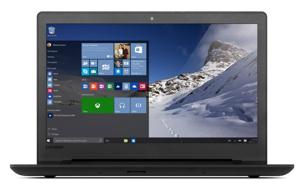 Lenovo 110-15ACL Notebook, 15.6 Zoll, AMD Quad-Core E2-7110, 4GB RAM, 500GB HDD, DVD-Brenner, Windows 10