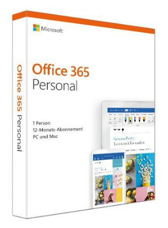 Microsoft Office 365 Personal [1 Benutzer, 1 Jahr] Word, Excel, PowerPoint, OneNote, Outlook, Access