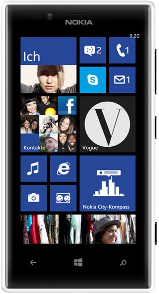 Nokia Lumia 720 Weiß EU [Windows Phone 8, 1,0 GHz Dual-Core CPU, 4.3 Zoll Display]