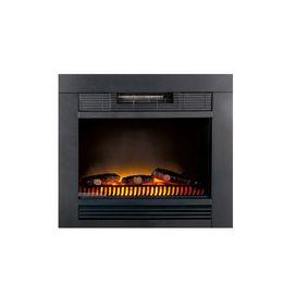 Classic Fire Electric Fireplace Heater Chicago Integriert 1800 W Metall
