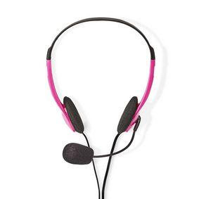 Nedis PC-Headset | On-Ear | 2x 3,5-mm-Stecker | 2,0 m | Pink