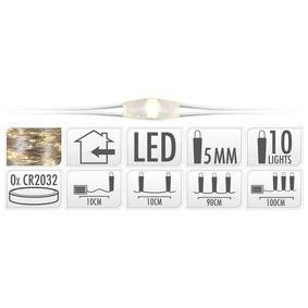 S.I.A SILBERDRAHT BELEUCHTUNG 10 LED