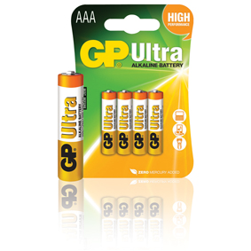 GP Batteries Alkaline Batterie AAA 1.5 V Ultra 4-Blister