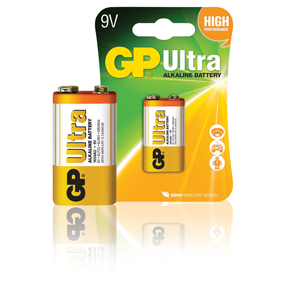 GP Batteries Alkaline Batterie 9 V Ultra 1-Blister