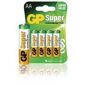 GP Batteries Alkaline Batterie AA 1.5 V Super 4-Blister