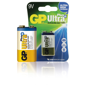 GP Batteries Alkaline Batterie 9 V Ultra+ 1-Blister