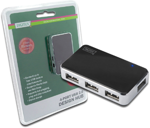 Digitus USB Hub, 4-Port, USB 2.0 [schwarz]