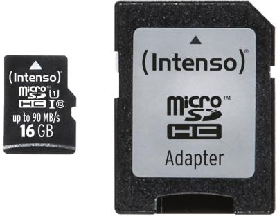 Intenso Micro SD Card 16GB UHS-I Professional inkl. SD Adapter