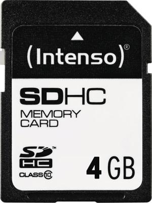 Intenso SD Card 4GB Class 10