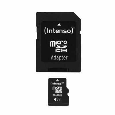 Intenso Micro SD Card 4GB Class 10 inkl. SD Adapter