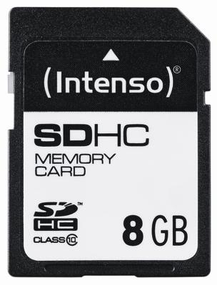 Intenso SD Card 8GB Class 10