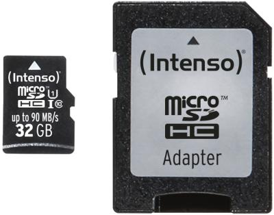 Intenso Micro SD Card 32GB UHS-I Professional inkl. SD Adapter