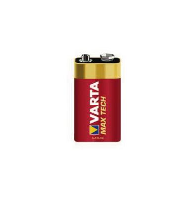 Varta 9V Batterie, Block, MAX TECH 4722, 1er