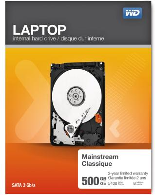 Western Digital Laptop Everyday Hard Drives 500GB Retail