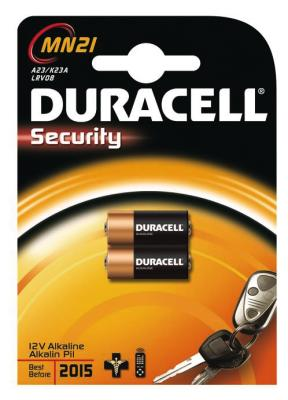 Duracell MN21 Security, 2er Pack [A23, MN21, 8LR932, 23A, V23]