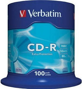 Verbatim CD-R, 100er Spindel, 700MB, 52x