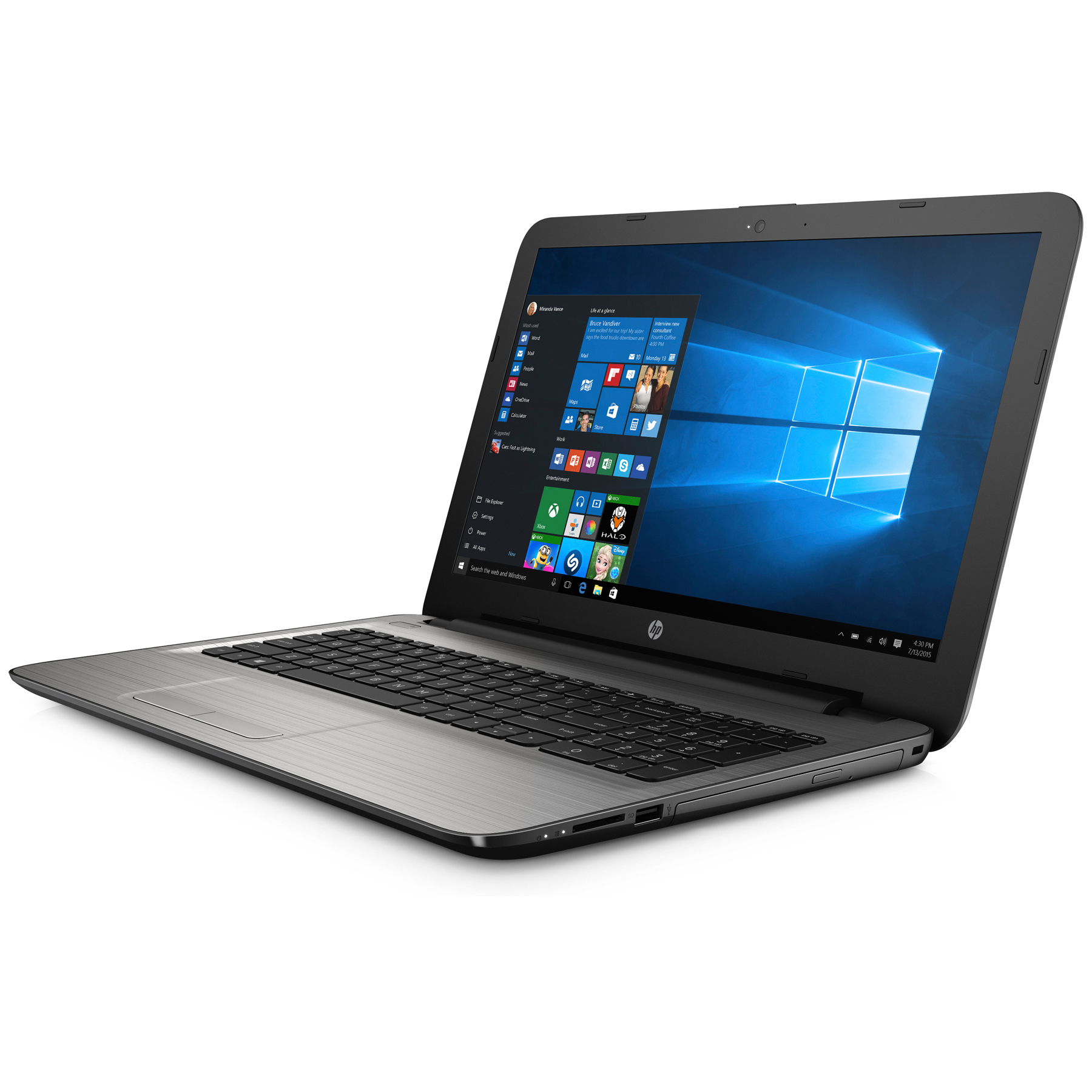 Hewlett Packard (HP) HP 15-ba015ng Notebook, 15.6 Zoll, AMD A10-9600P APU, 8GB RAM, 256GB SSD, R7-M440/2GB Grafik, Win10