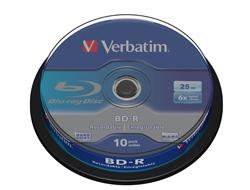 Verbatim BD-R SL 6X 25GB 10PACK SPINDLE
