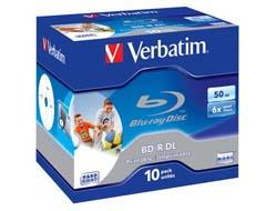 Verbatim BD-R DL 6X 50GB 10PACK JC