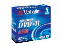 Verbatim DVD+R DL 8X 5PZ JEWEL CASE