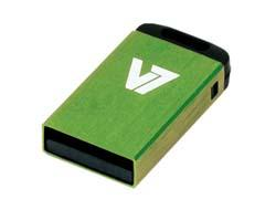 V7 USB NANO STICK 4GB GREEN