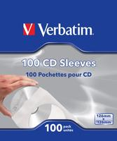 Verbatim CD-DVD PAPER SLEEVES 100 PK