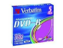 Verbatim DVD-R X5 4.7GB 16X SLIM CASE