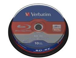 Verbatim BD-RE SINGLE LAYER 2X 25GB