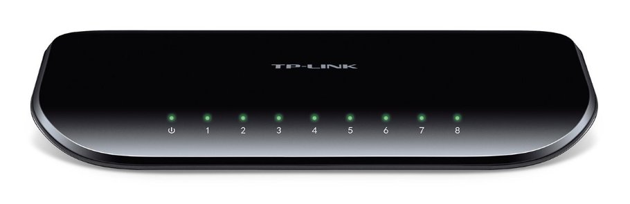TP-Link TL-SG1008D 8-Port Gigabit Switch (1000 Mbit/s, Auto-MDI/MDIX, Green Ethernet)