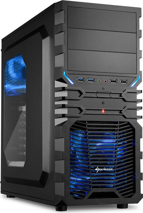 Computerhaus Gamer Komplettsystem Intel Core i3-8350K 4x 4.0GHz, 16GB RAM, GeForce GTX1070 8GB, 240GB SSD, DVD-Brenner