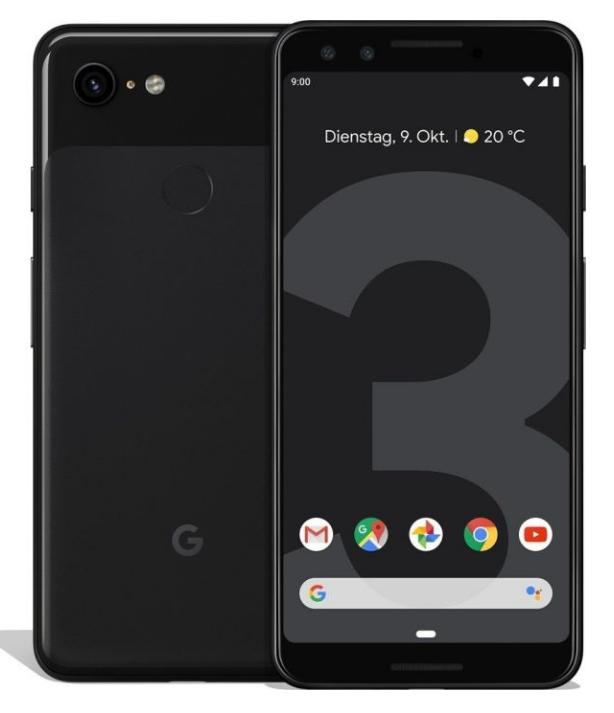 Google Pixel 3, 64GB, Android 9.0, Farbe: schwarz