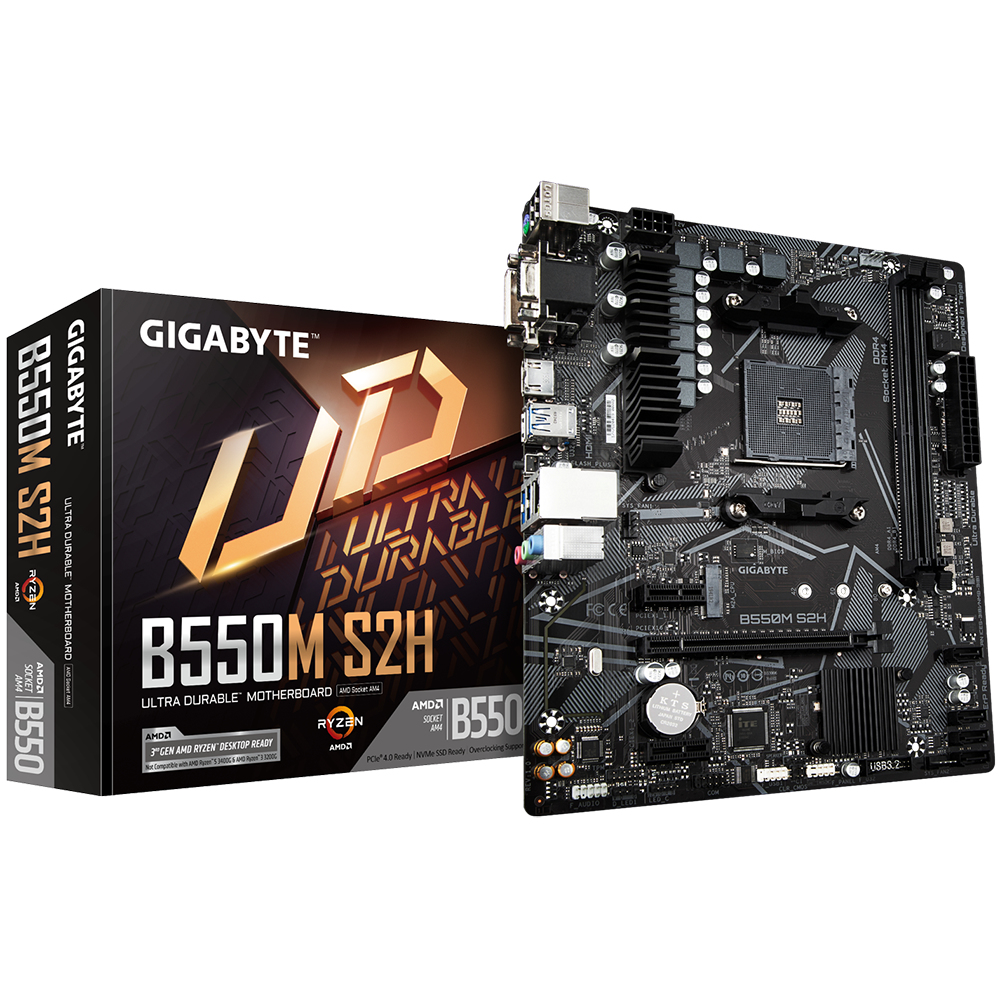 GigaByte B550M S2H AMD Socket AM4 DDR4