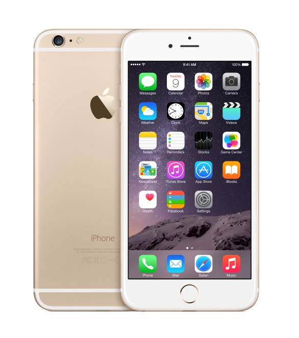 Apple iPhone 6 Plus 128GB Gold [13,94cm (5,5) Retina HD Display, iOS 8, A8, 8MP]