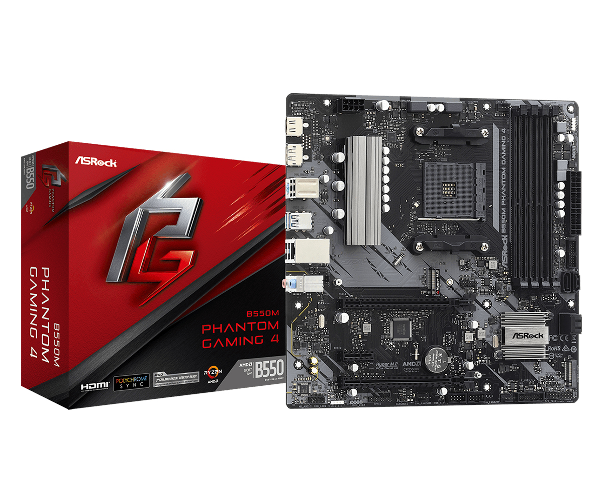 ASRock AM4  B550M Phantom Gaming 4