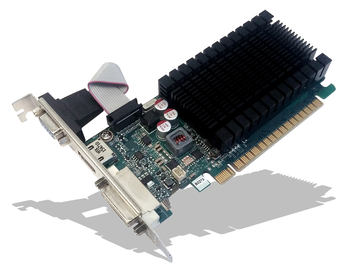 PNY GeForce GT 710 2048MB GDDR3 PCI-Express 2.0 8x DVI-D HDMI VGA Low Profile