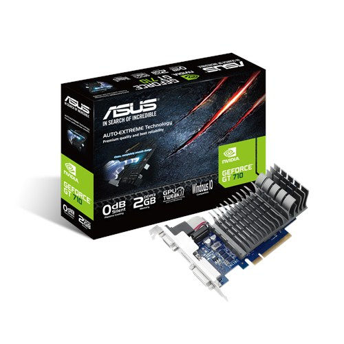 Asus GeForce GT 710 2GB DDR3 LP 1x Native Dual-link DVI-D HDMI passiv PCIE 2.0